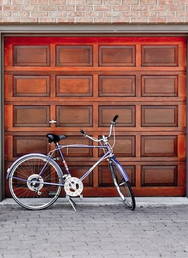 garage door and cycle