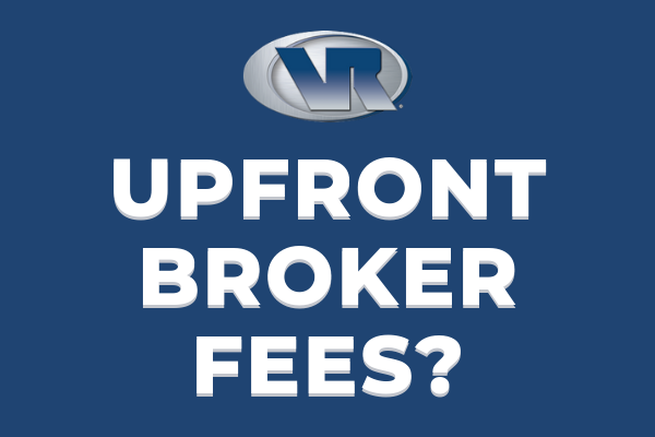 vr business brokers upfront broker fees